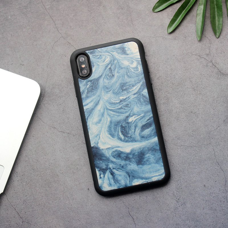 Mountain sea blue ink stream iphone11pro xs max xr 7 8 plus x leather phone case customization