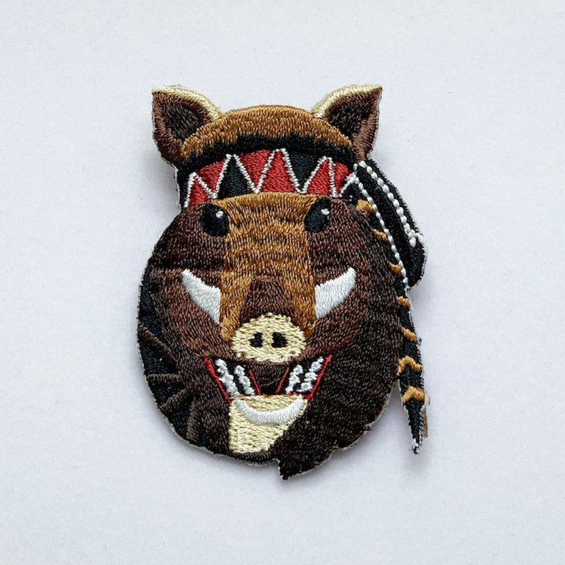 [Forest Animal Series] Q version of the mountain pig embroidered pin