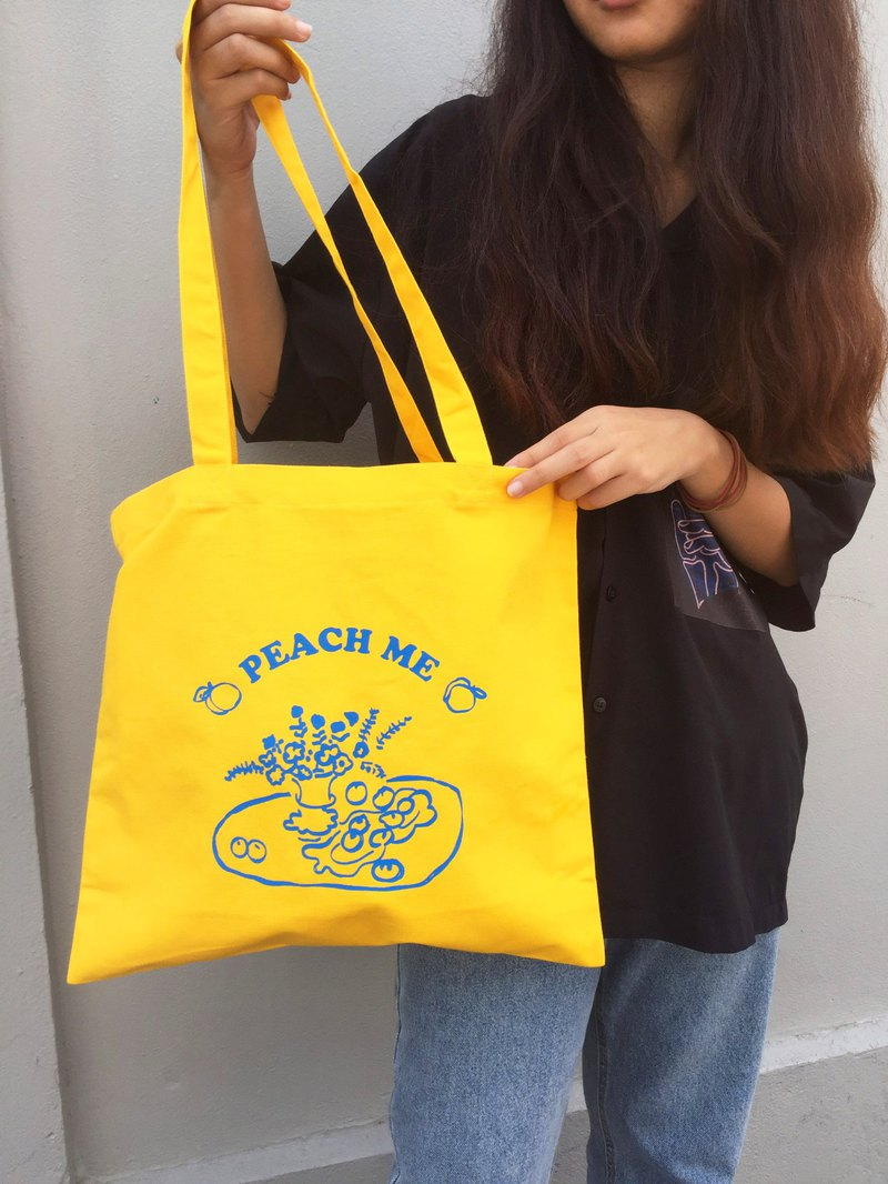 Peach me - Tote (Yellow)