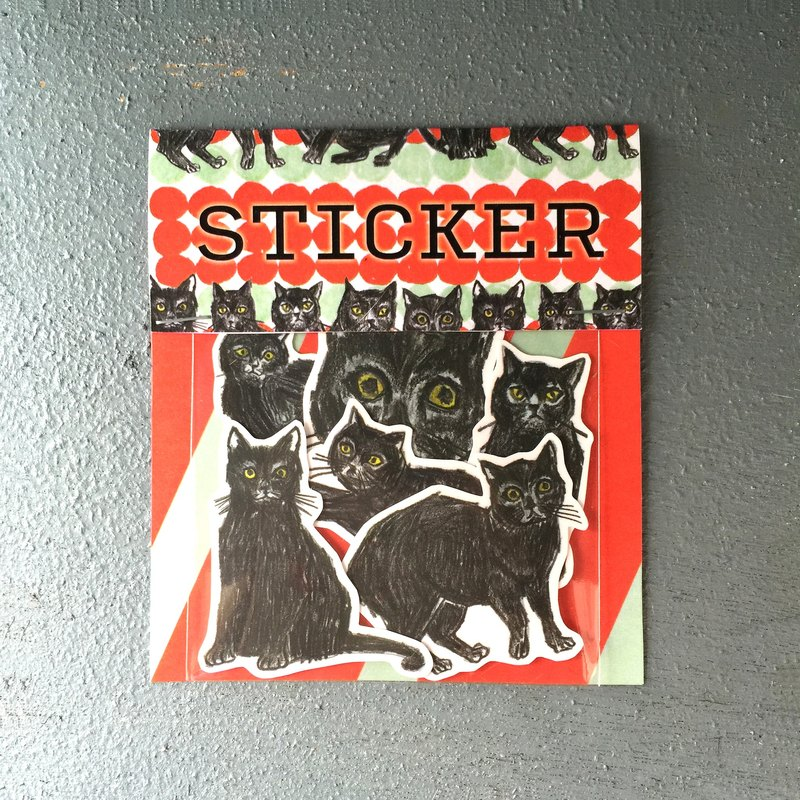 Black cat's plan stickers group