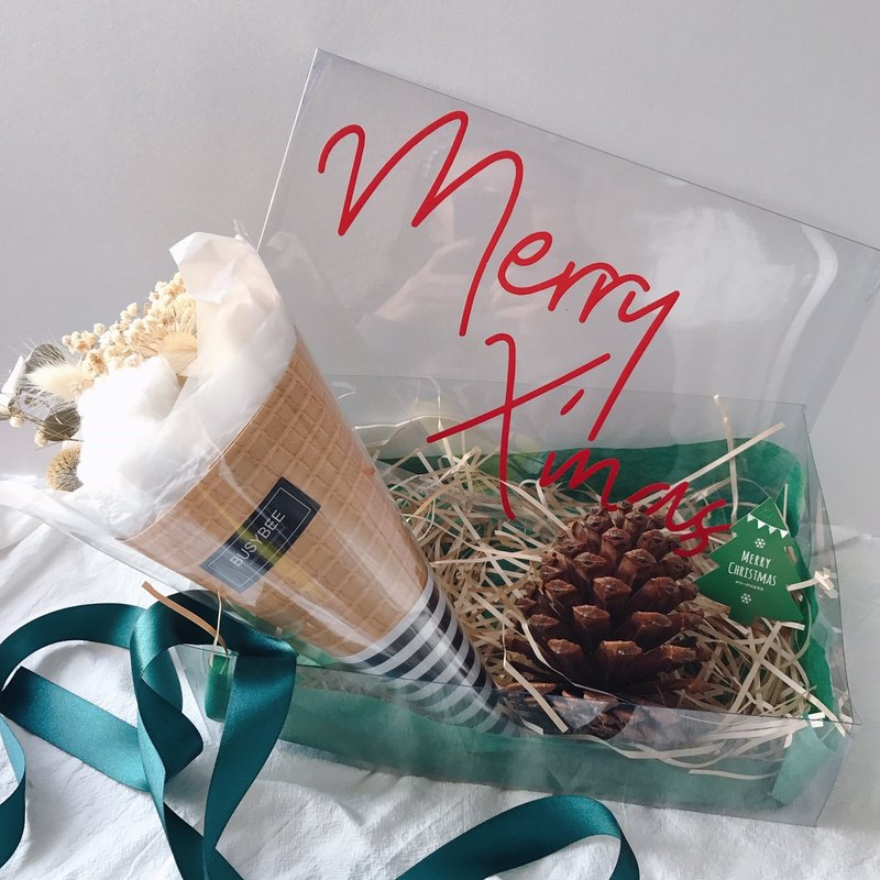 {BUSYBEE} Spot Surprise Christmas Gift Set Exchange Gifts Christmas Gifts Dry flowers