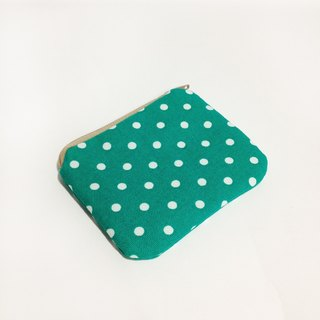 Green White Little Little Wallet