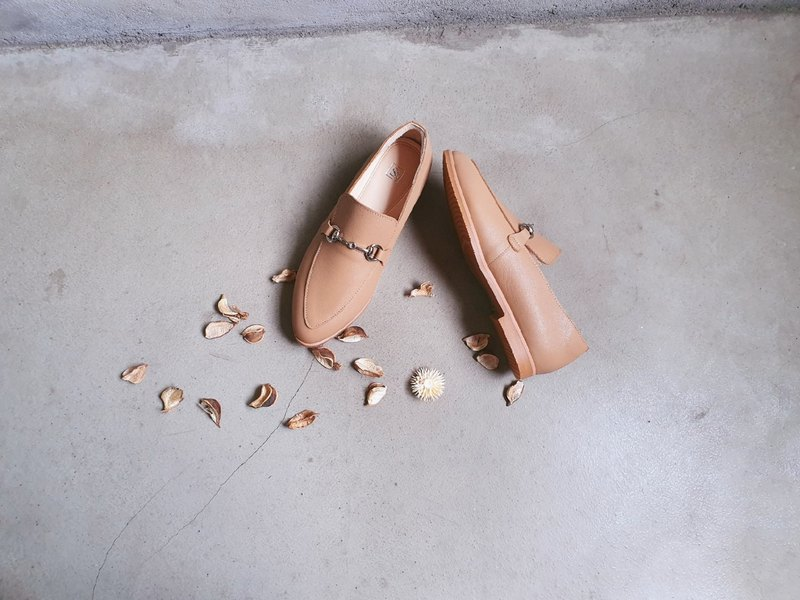 Classical brown __s091 full leather classic pointed shoes