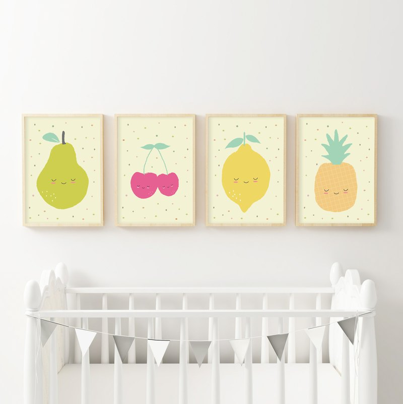 Fruit Nursery Decor Customizable Poster