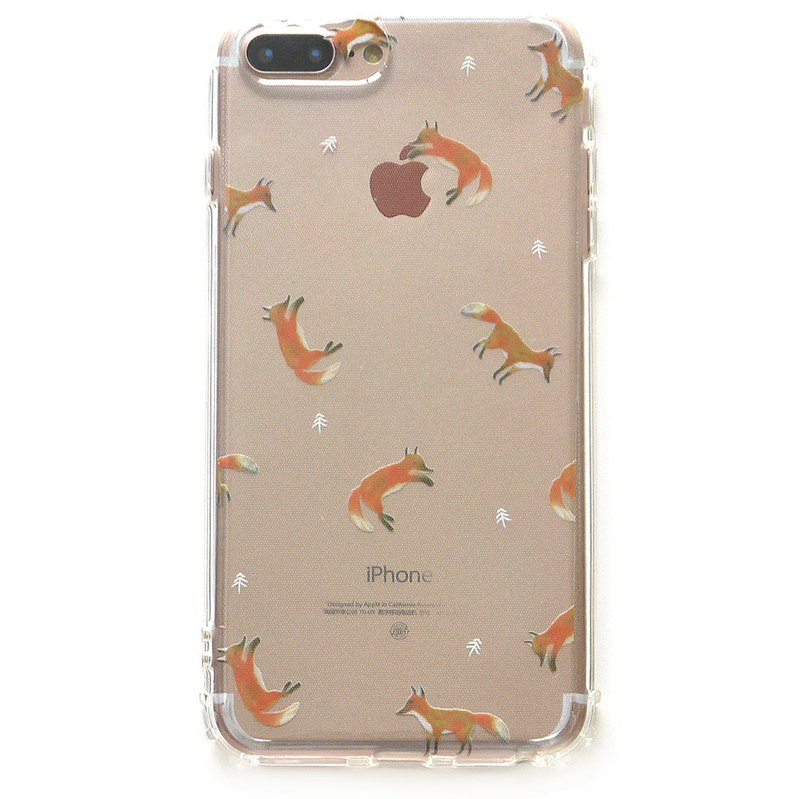 Spot | fox - mobile phone case | TPU Phone case anti-drop air pressure shell | can add words