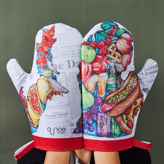 Michigan Food Map Kitchen Glove