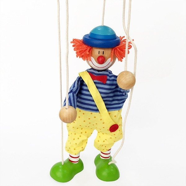 Clown Wooden Marionette Puppet