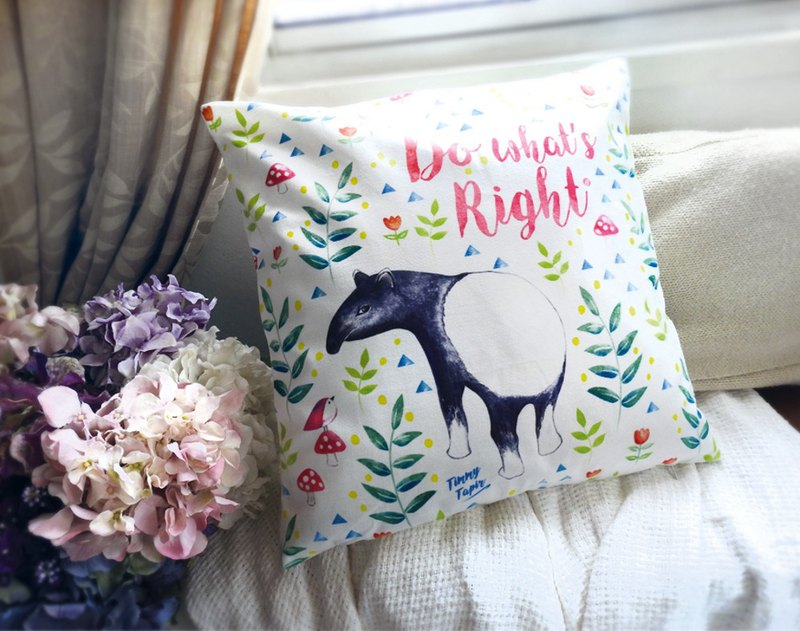 Do what's Right Watercolour Style 45x45cm Pillow Case