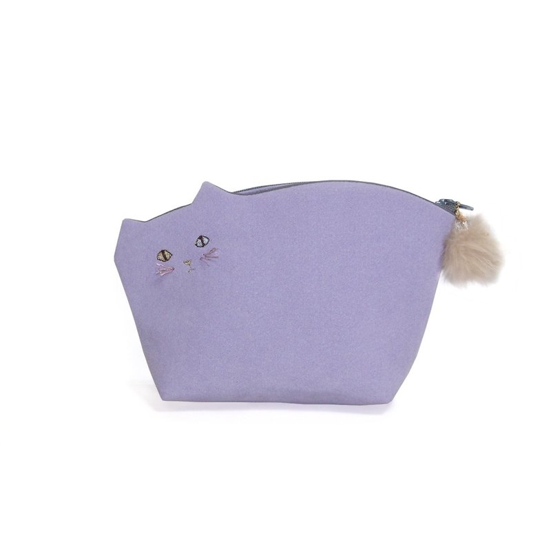 Koneko Pouch No. 008 with violet beard [Made to order]