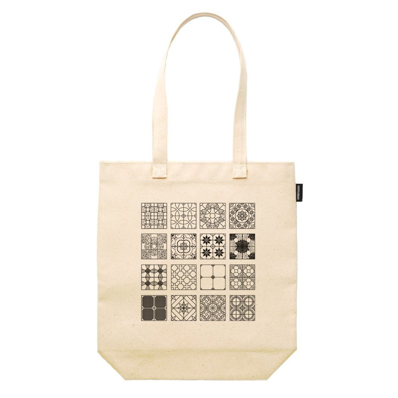 Tile Line Synthetic Canvas 12 oz Heavy Totes