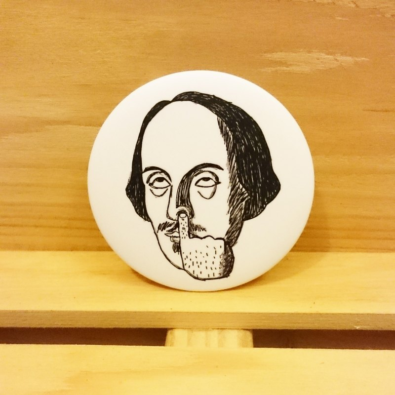 Mr. Shakespeare [in] no hand-painted wind badge