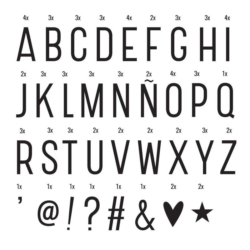 [letter light box light] Netherlands a Little Lovely Company letter light - basic font