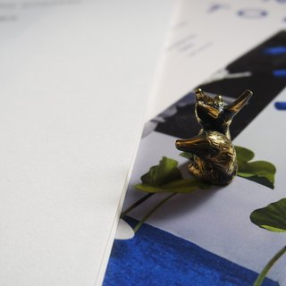 Brass ornaments small fox