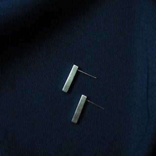 Simple cuboid - 925 sterling silver earrings