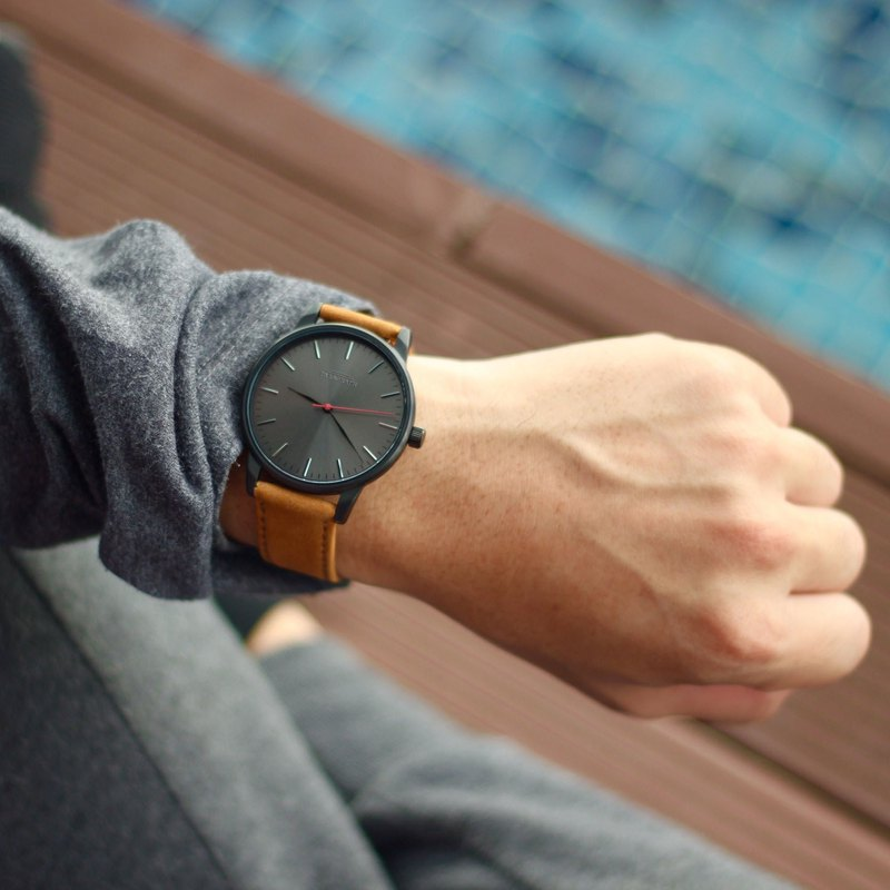 Minimal Watches / 42 Series Black Brown