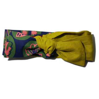 Lu Lita Japan imported cotton and linen super wide hair band literary retro fashion bow multi-purpose headband