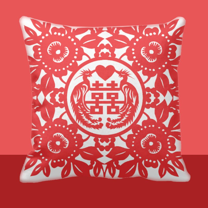 Double Happiness Wedding Cushion Gift