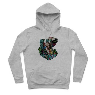 ZOMBIE - Deep Heather Grey - Hooded T-Shirt