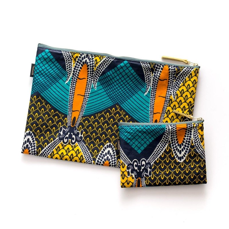 WEST COAST AFRICAN WAX POUCH SET