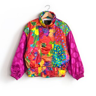 Vintage bright little ski jacket with a vintage coat