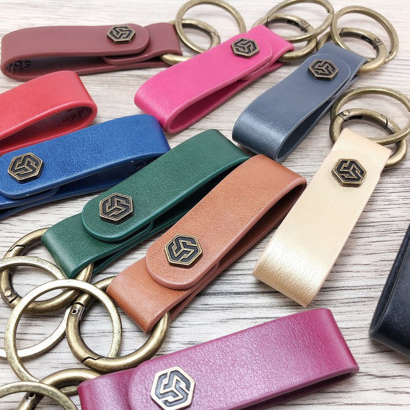 【Alter】- Eco leather key chain + cable winder