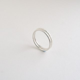 Wood grain - two pieces of sterling silver ring