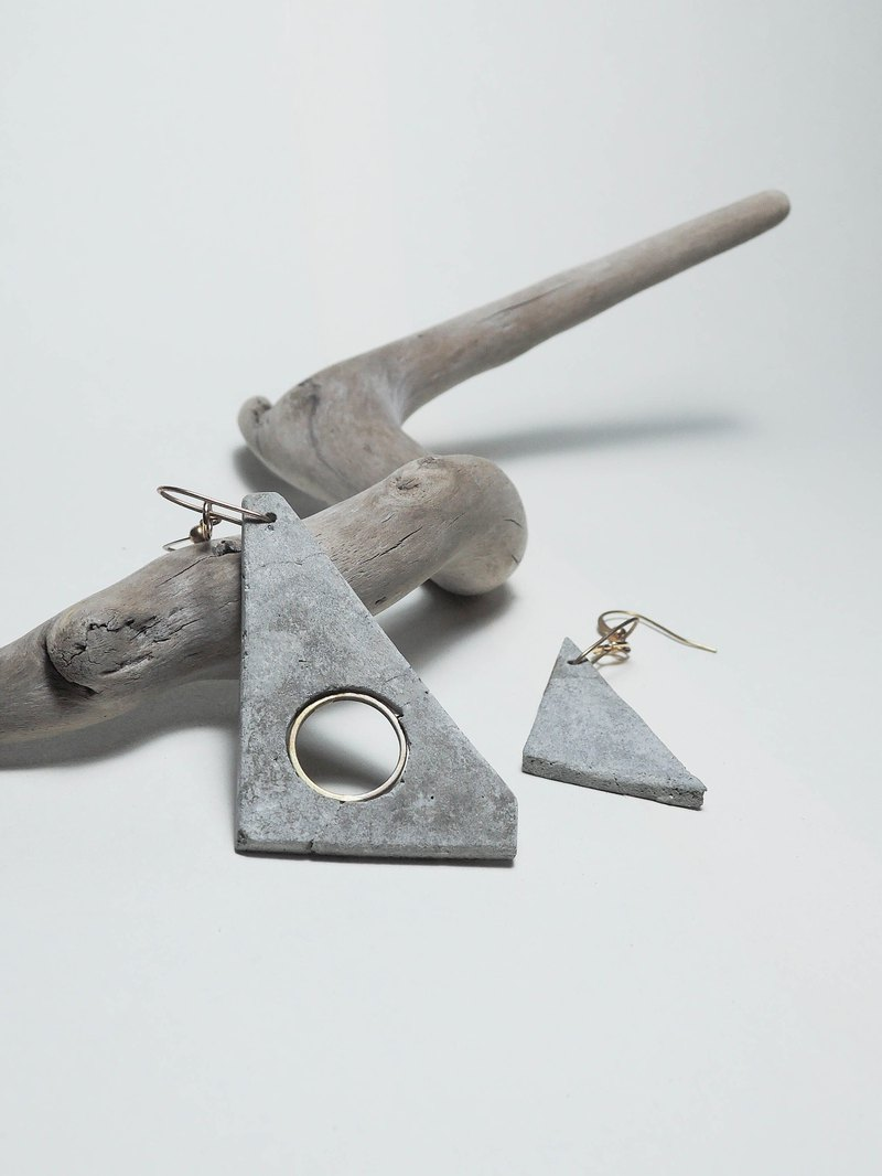 Cement Handmade Earrings Earrings -Sharper External