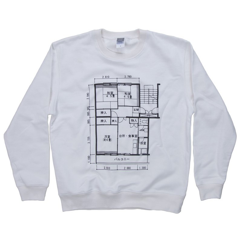 To Father's Day gift. To present. Japanese floor plan Sweatshirt Unisex S ~ XXL Size Tcollector