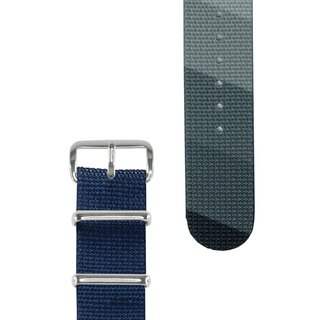 HYPERGRAND military strap - 20mm - MIDNIGHT NAVY Blu-ray light and shadow
