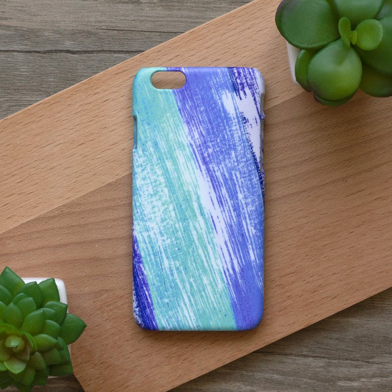 Blue and White Brush Lines. Matte Case( iPhone, HTC, Samsung, Sony, LG, OPPO)