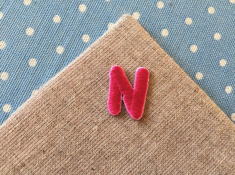 Embroidered Cloth Sticker - English Alphabet Series - Uppercase N