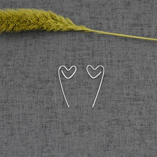 Love Back Stud Earrings (Silver Earrings) ::C% Handmade Jewelry::