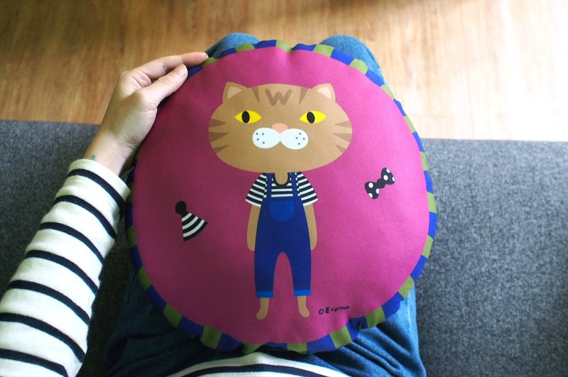 E * group Round Pillow Double-sided Design Violet Pillow Good Morning Pillow