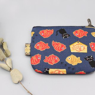 Ping Le Small Pack - Cat Goldfish, Japanese Cotton, Small Wallet