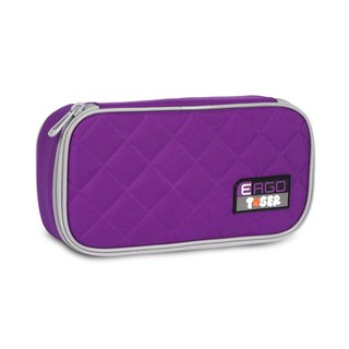 Tiger Family Rainbow Simple Fashion Pencil Box - Grape Purple