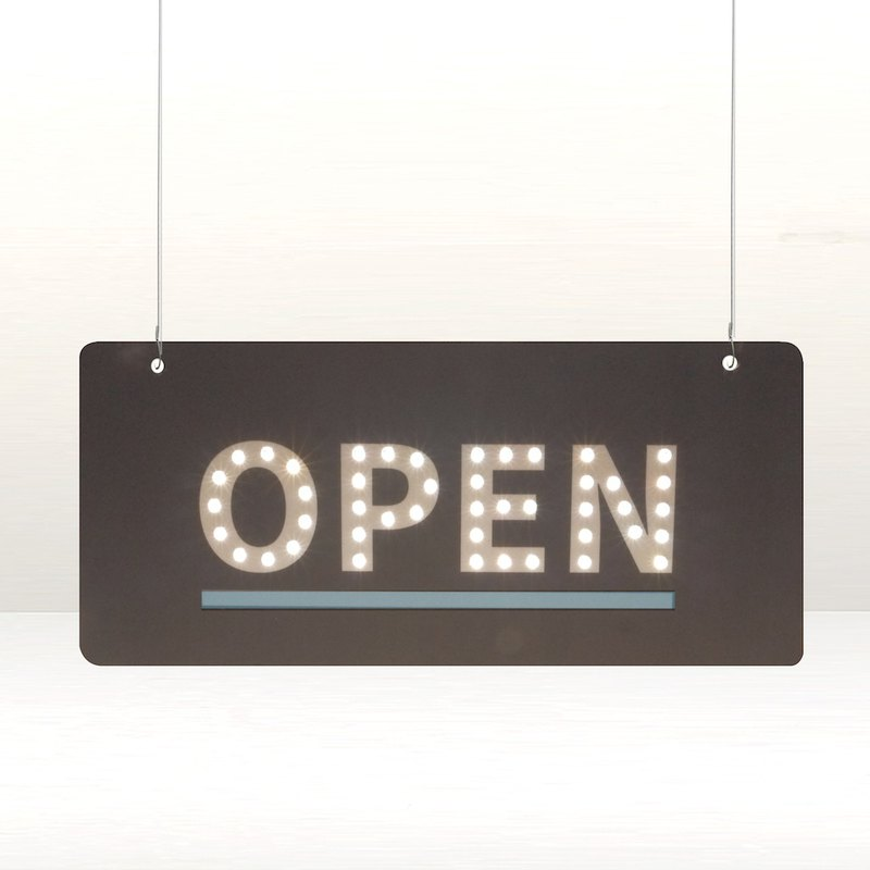 Wireless bright DIY small tag. Signboard. Signage. Signage. Shop window decoration. OPEN.TOILET