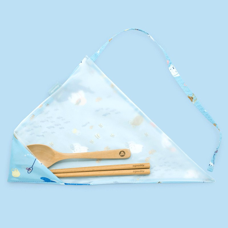 Good day cutlery set | white and sea