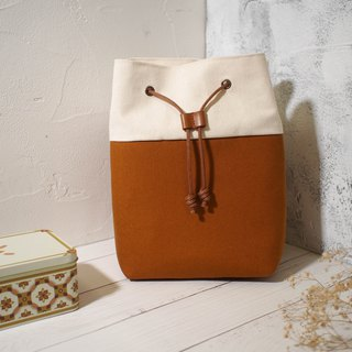 Traveler series Messenger bag / Bucket bag / Limited hand bag / Toffee / Pre-order