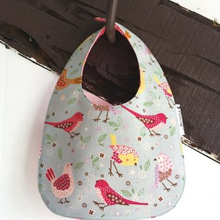 Two-sided bib - Classical colored bird