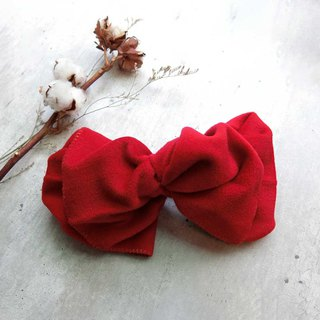 (thick) French red giant butterfly hair band - the whole detachable
