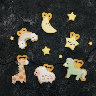 Leona hand made icing sugar biscuits to receive biscuits ((Good night baby 6 piece group))