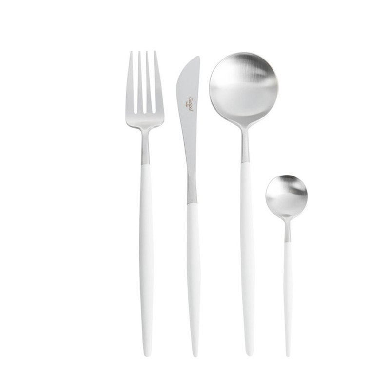 | Cutipol | GOA Whit Matte 4 Pieces Set (Table Knife/Spoon/Fork/Tea spoon)
