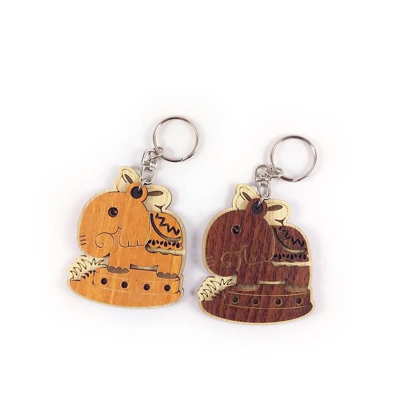 Woodcarving key ring - Dumbo