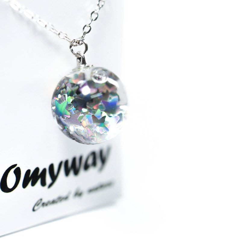OMYWAY Handmade Water Star Necklace - Glass Globe Necklace