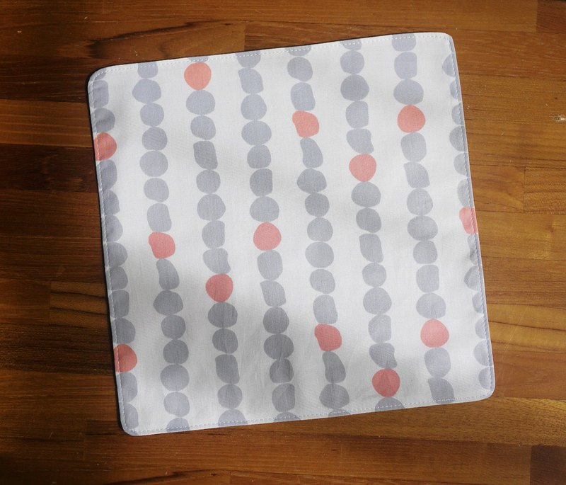 Limited edition = Japanese cotton handkerchief = Nordic simple style = hand-painted dots = beige