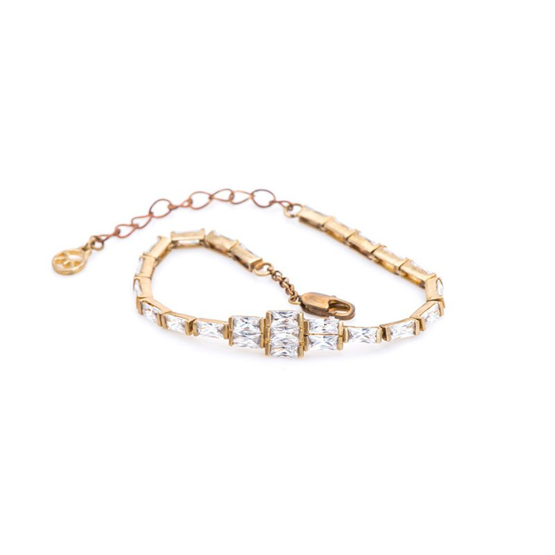 Classic rectangular diamond bracelet 321
