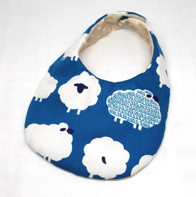 Japanese Handmade Baby Bib / blue sheep