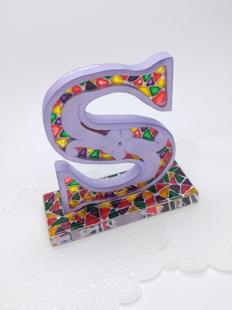 Painted Decorative Letters (S Letter)