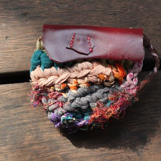 Eco-friendly reusable cloth coin purse - Plum