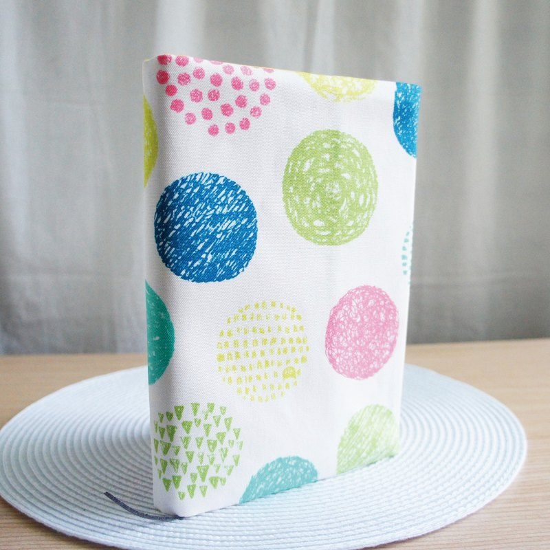 Lovely Japanese cloth, do not let you see cloth book [colorful geometric dots] book cover 25 open 15X21cm